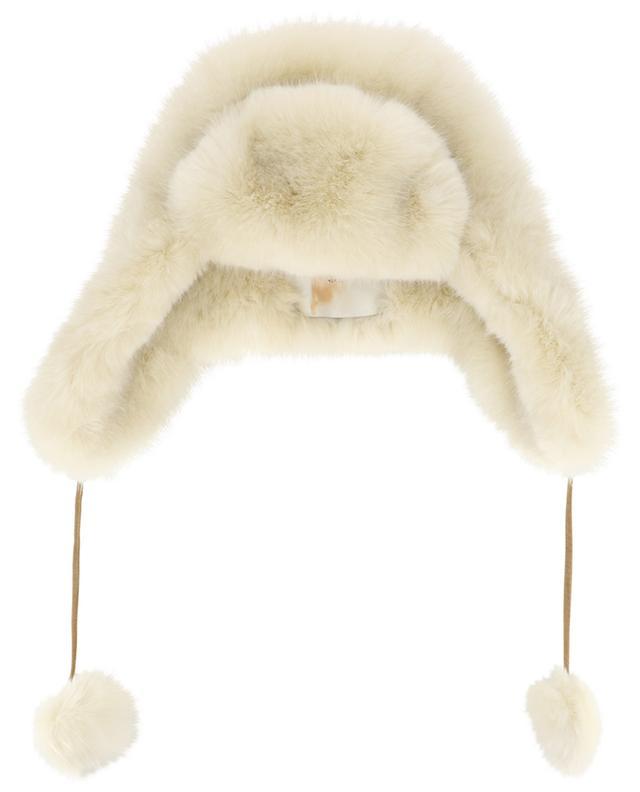 Pompon embellished faux fur Cossack hat / FAZ / NOT FUR