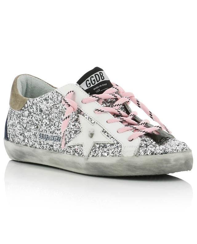 Superstar silver glitter covered low-top sneakers GOLDEN GOOSE