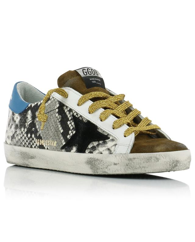 Superstar snake print sneakers with black star GOLDEN GOOSE