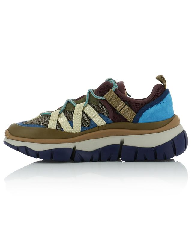 Blake knit, leather and mesh sneakers CHLOE