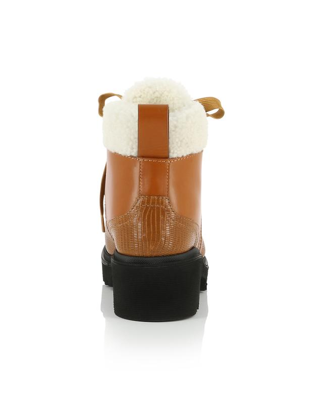 Bella Mountain fur padded lizard detail ankle boots CHLOE