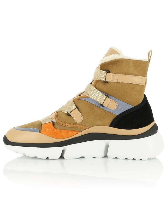 Sonny warmly padded high-top sneakers CHLOE