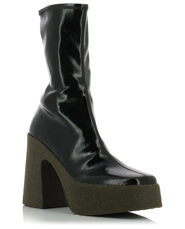 Chunky faux patent leather ankle boots STELLA MCCARTNEY