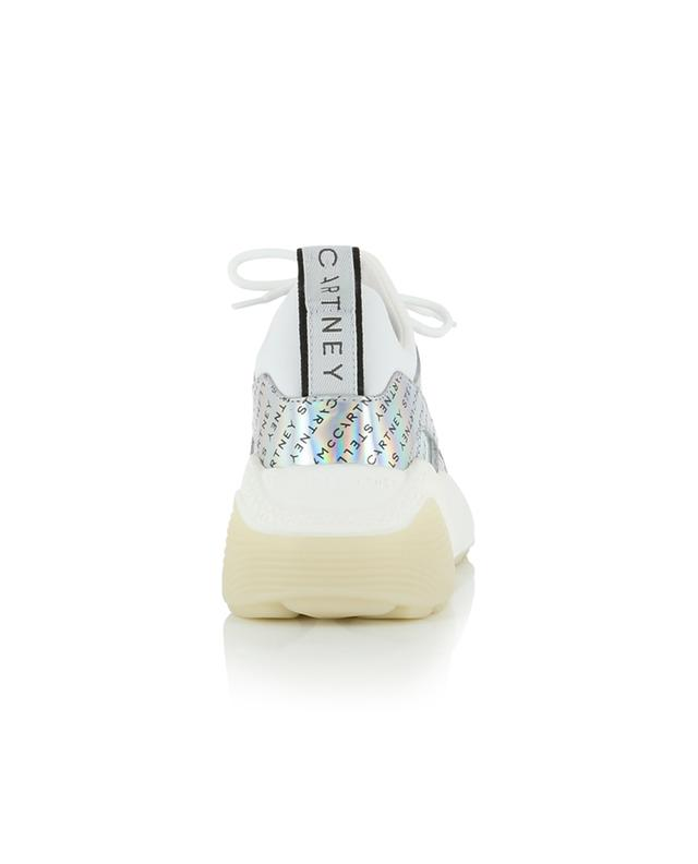 Eclypse silver faux leather lace-up sneakers STELLA MCCARTNEY