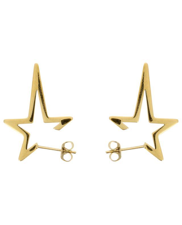 Punk Star golden stud earrings THEGOLDLOVESHOP