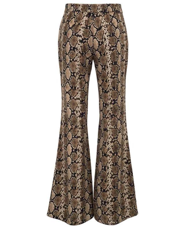 Happy flared python print trousers SEDUCTIVE