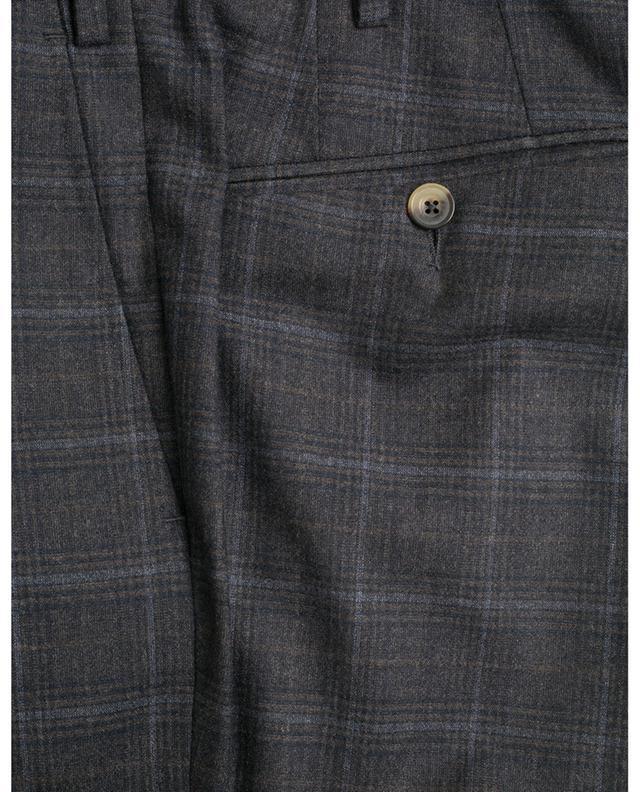 Pantalon slim à carreaux en cachemire mélangé Slim80 MARCO PESCAROLO