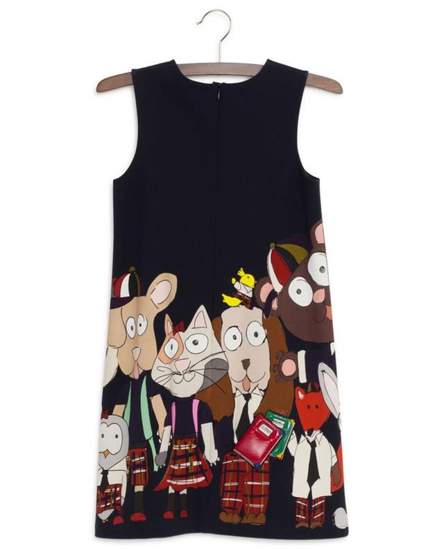 Back To School cotton blend print sleeveless dress DOLCE & GABBANA