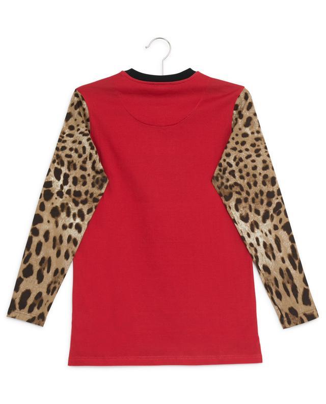 T-shirt en coton imprimé léopard DOLCE & GABBANA