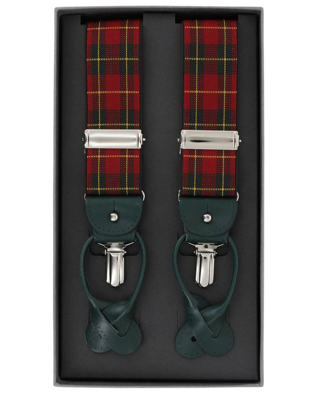 Tartan pattern braces ROSI COLLECTION