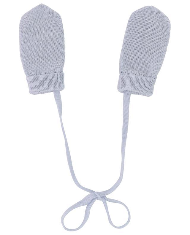 Virgin wool knit mittens IL TRENINO