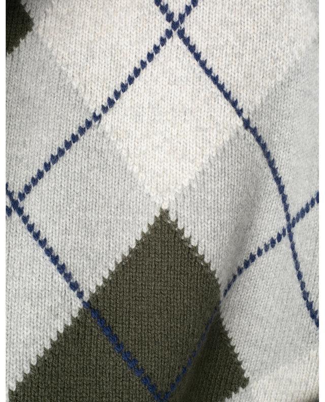 Pull à carreaux en laine mérinos et cachemire BORRELLI