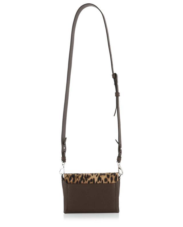 Micro-sac porté épaule en cuir poulain imprimé animalier TOD'S