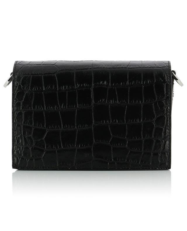 Micro sac en cuir imprimé crocodile TOD'S