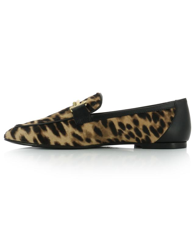 Mokassins mit Leopardenprint Double T TOD'S