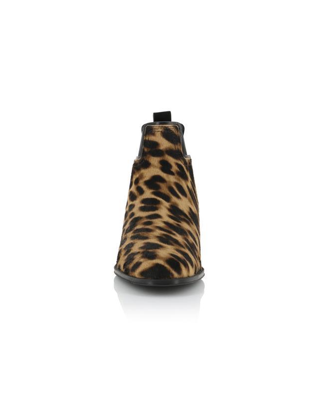 Bottines plates imprimées léopard panneau T TOD'S