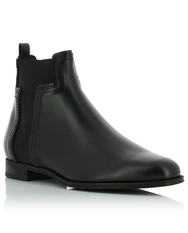 Flat leather ankle boots with T-detail TOD'S