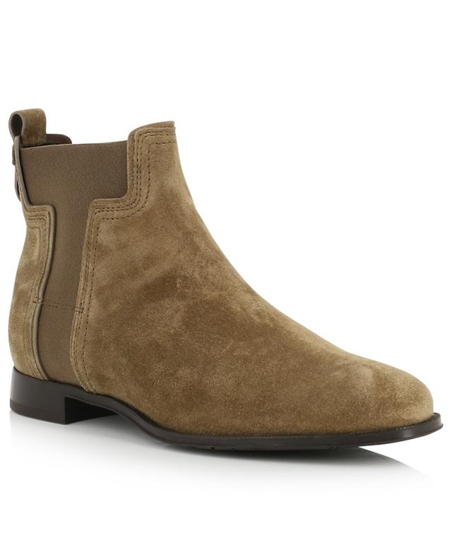T detail flat suede ankle boots TOD'S