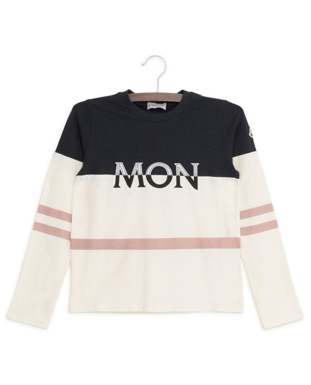T-shirt à manches longues imprimé logo MONCLER