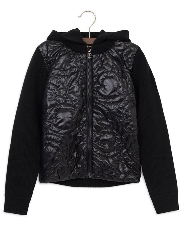 Logo cardigan with quilted yoke MONCLER