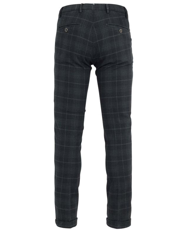 Checked cotton stretch trousers B SETTECENTO