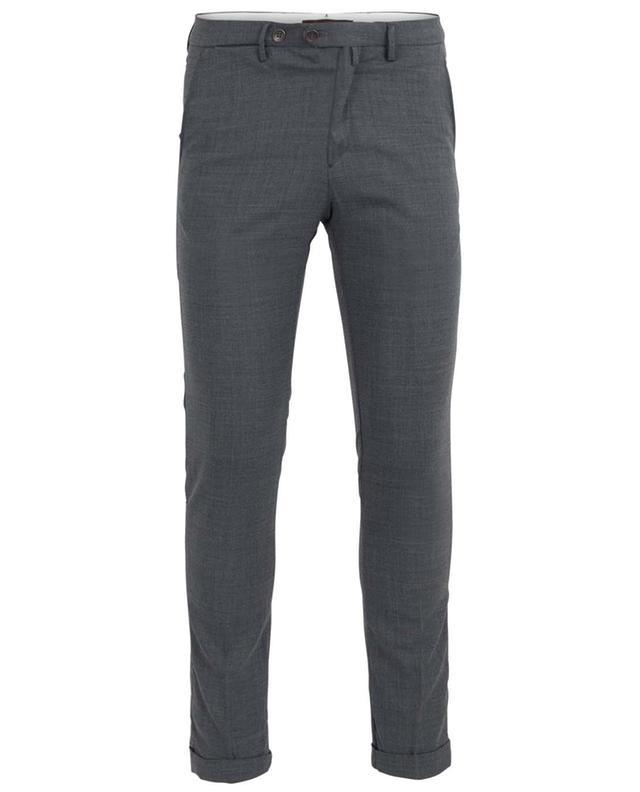 Pantalon slim en sergé de laine B SETTECENTO