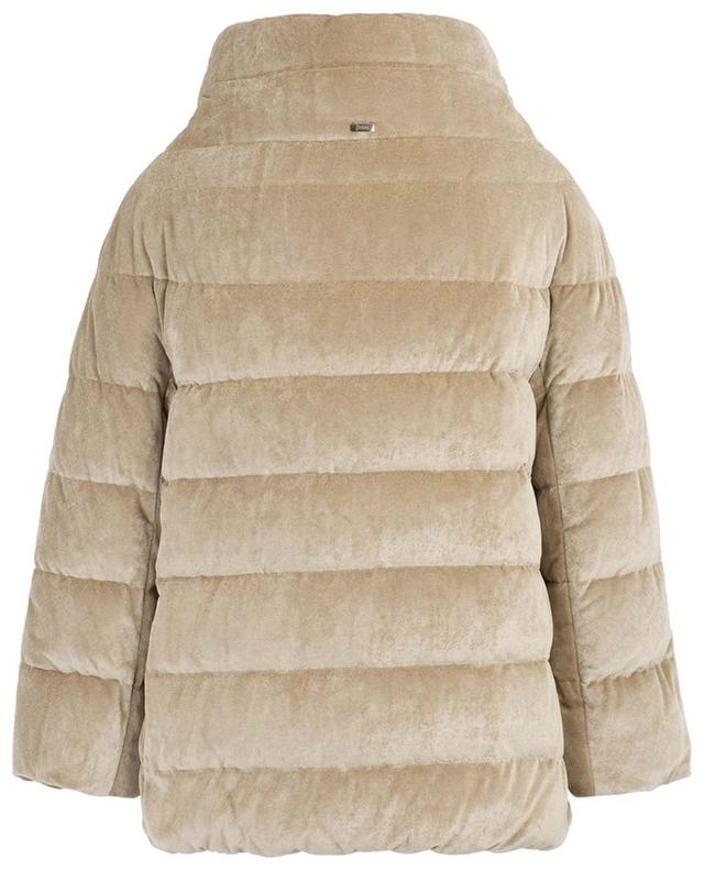 Velvet down jacket with stand-up collar HERNO