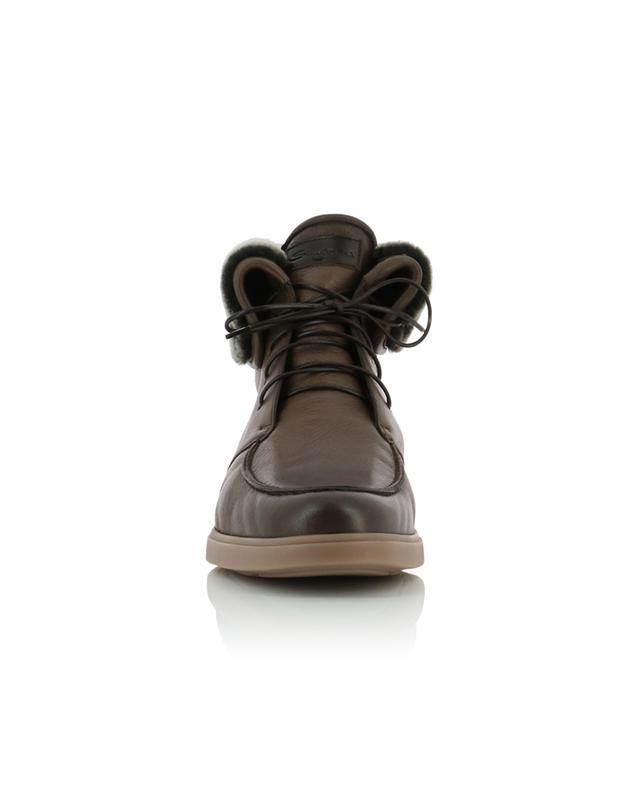 Textured leather ankle boots SANTONI
