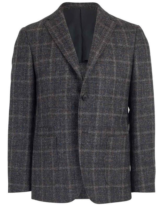 Wool blend check blazer Z ZEGNA