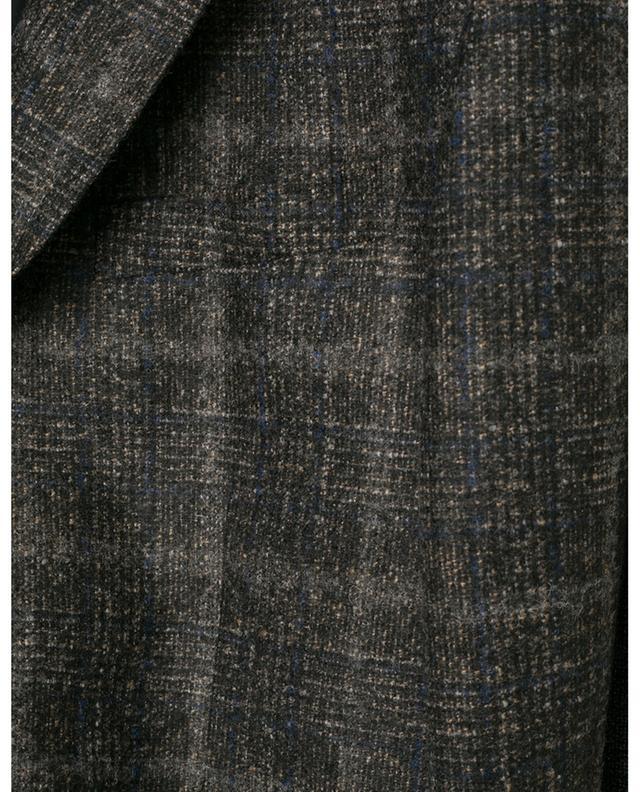 Blazer à carreaux en laine mélangée Z ZEGNA