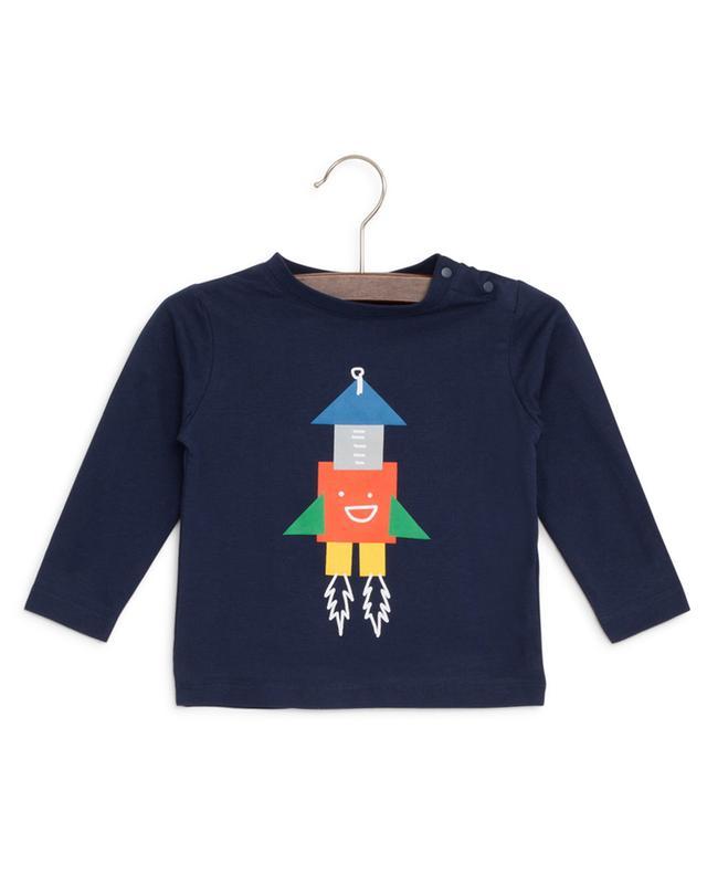T-shirt en coton imprimé fusée STELLA MCCARTNEY KIDS