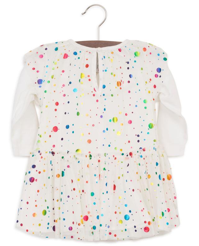 Robe bébé en tulle et jersey Multicolour Foil Dots STELLA MCCARTNEY KIDS