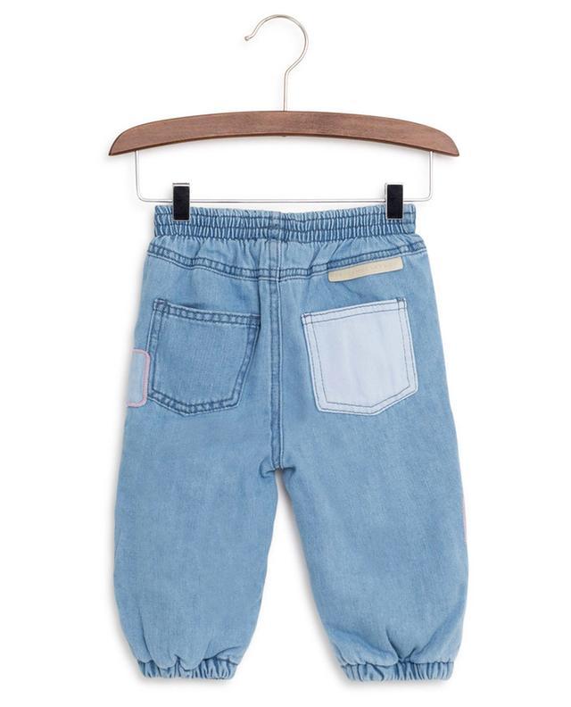 Pantalon en jean avec patches STELLA MCCARTNEY KIDS