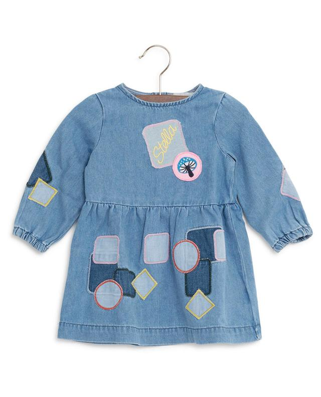 Robe en jean avec patches STELLA MCCARTNEY KIDS