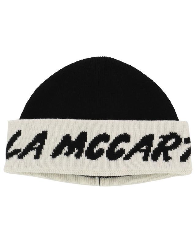 Mütze aus Baumwolle und Wolle mit Jacquard-Logo STELLA MCCARTNEY KIDS