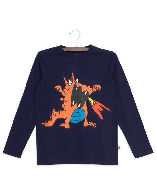 Dragon print cotton T-shirt STELLA MCCARTNEY KIDS