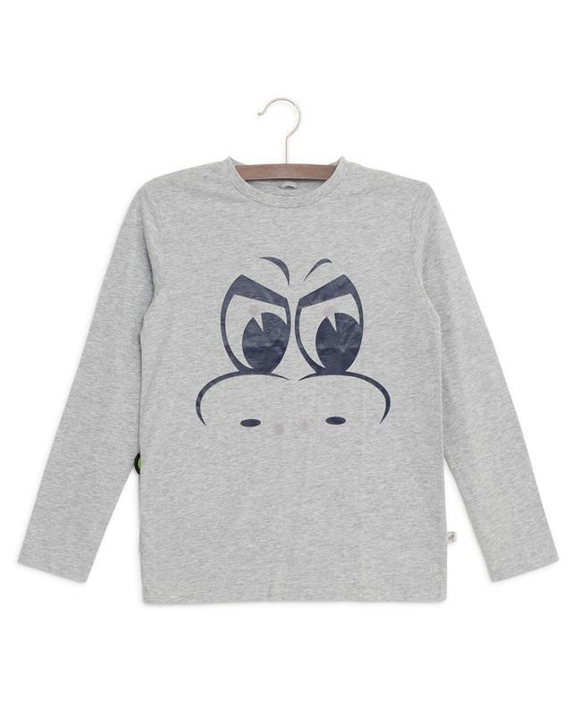 T-shirt en coton imprimé monstre avec patchs STELLA MCCARTNEY KIDS