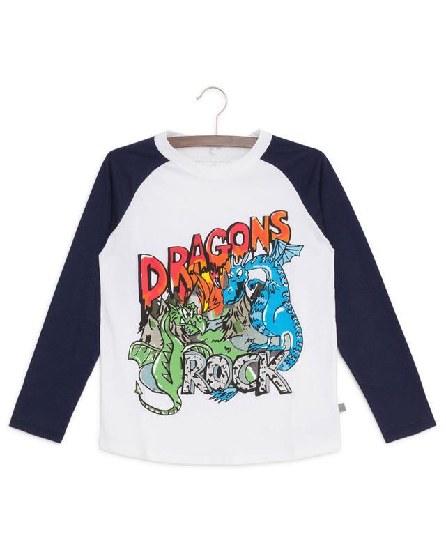 Rock Dragons cotton print long-sleeved T-shirt STELLA MCCARTNEY KIDS