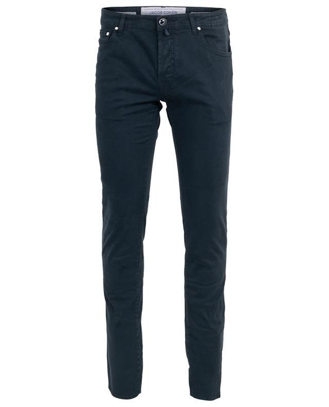 J622 print cotton blend slim jeans JACOB COHEN