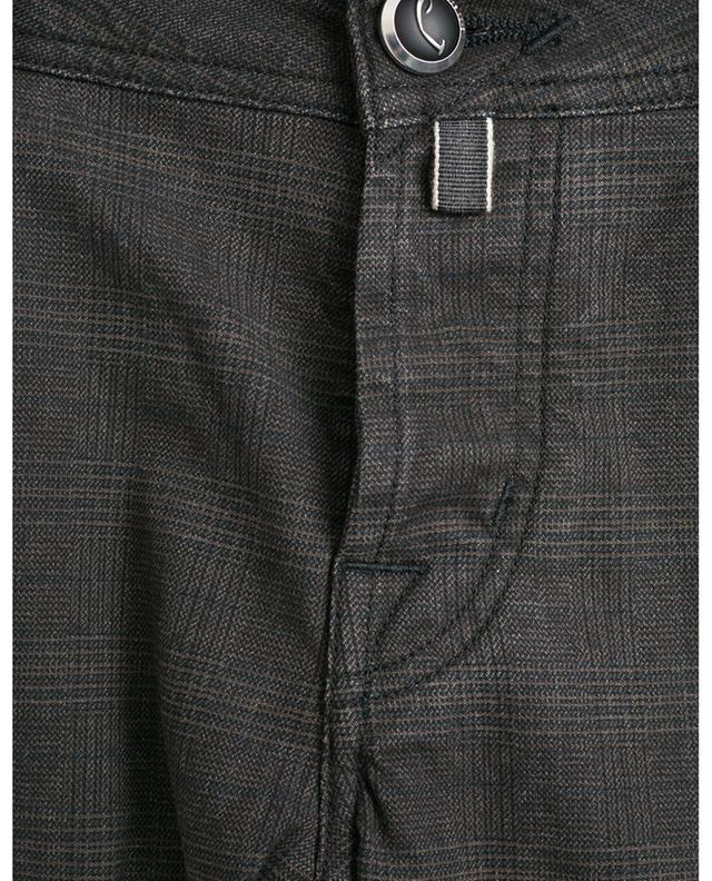 J622-COMF glen check print jeans JACOB COHEN