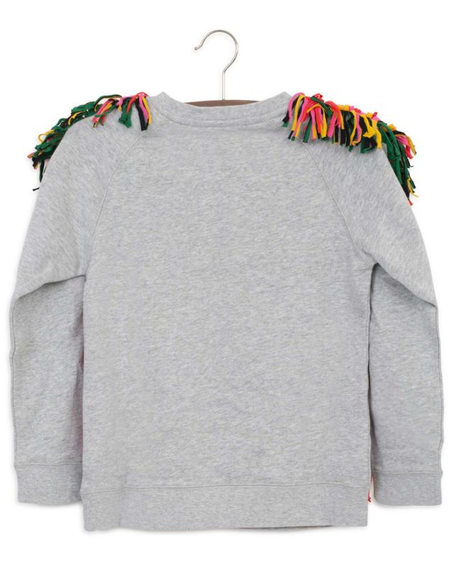 Throw Some Shapes fringed sustainable cotton sweatshirt STELLA MCCARTNEY KIDS