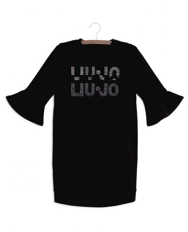Strass logo sweat dress LIU JO