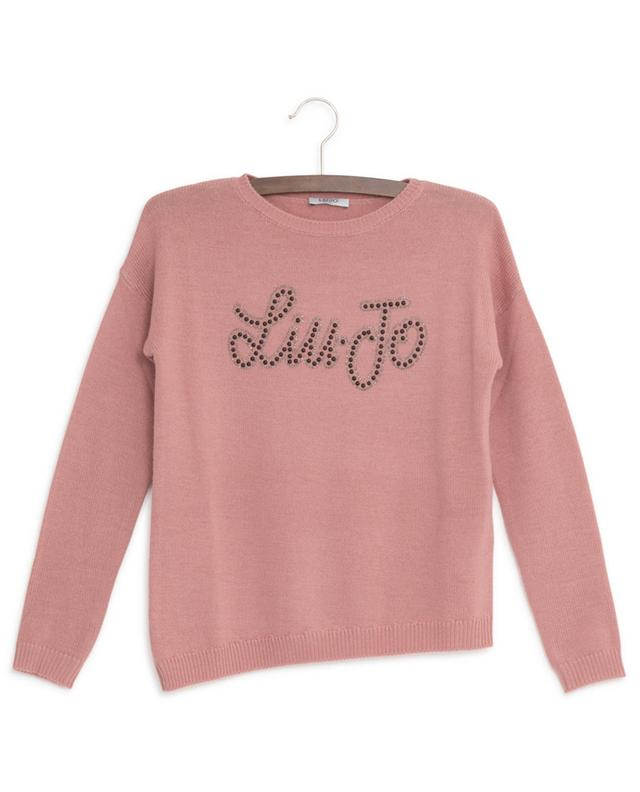 Pull en laine mélangée logo LIU JO