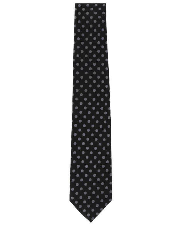 Silver dot tie TOM FORD