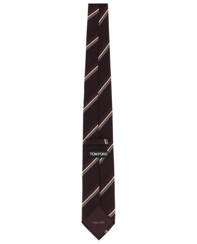 Cravate en soie texturée rayée TOM FORD