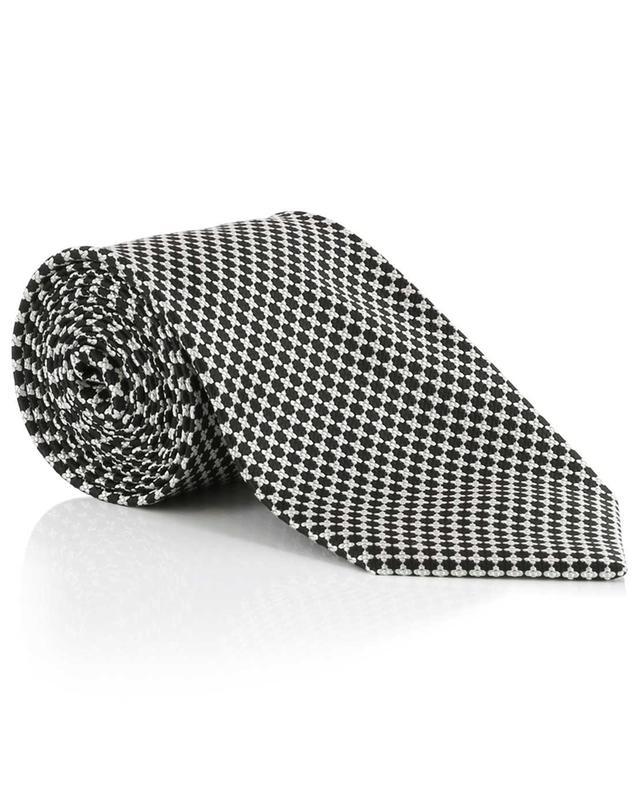 Cravate à pois texturés en soie mélangée TOM FORD