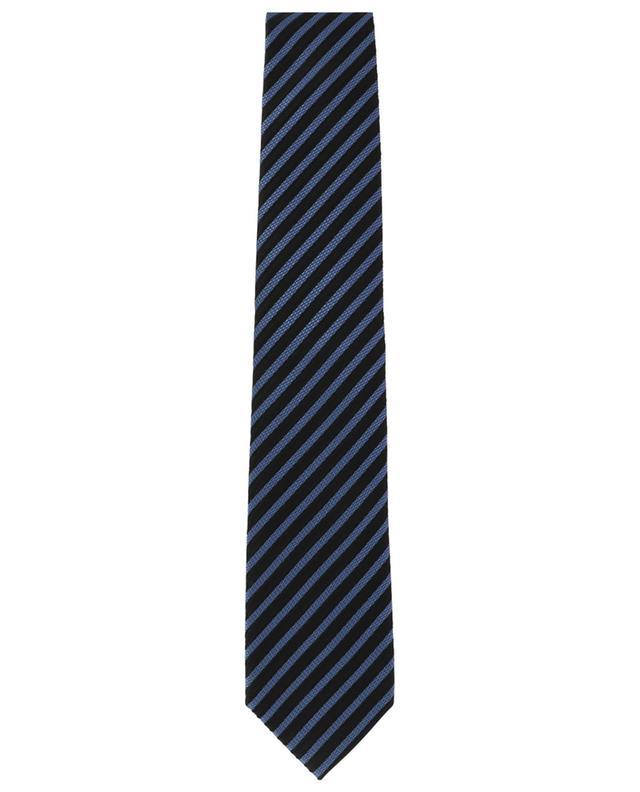 Cravate rayée en soie texturée TOM FORD