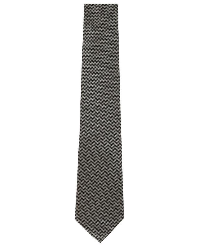 Cravate en soie mélangée pied-de-poule TOM FORD