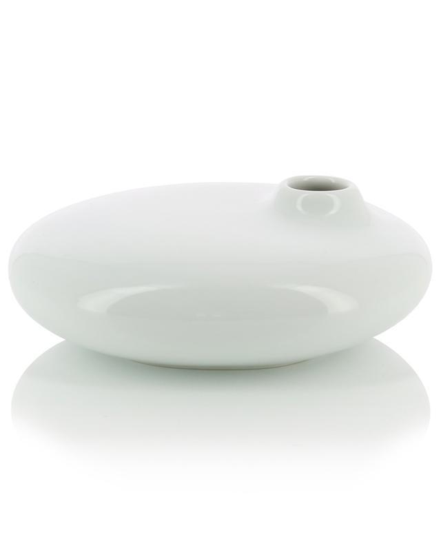 Petit vase plat en porcelaine Sacco 01 KINTO
