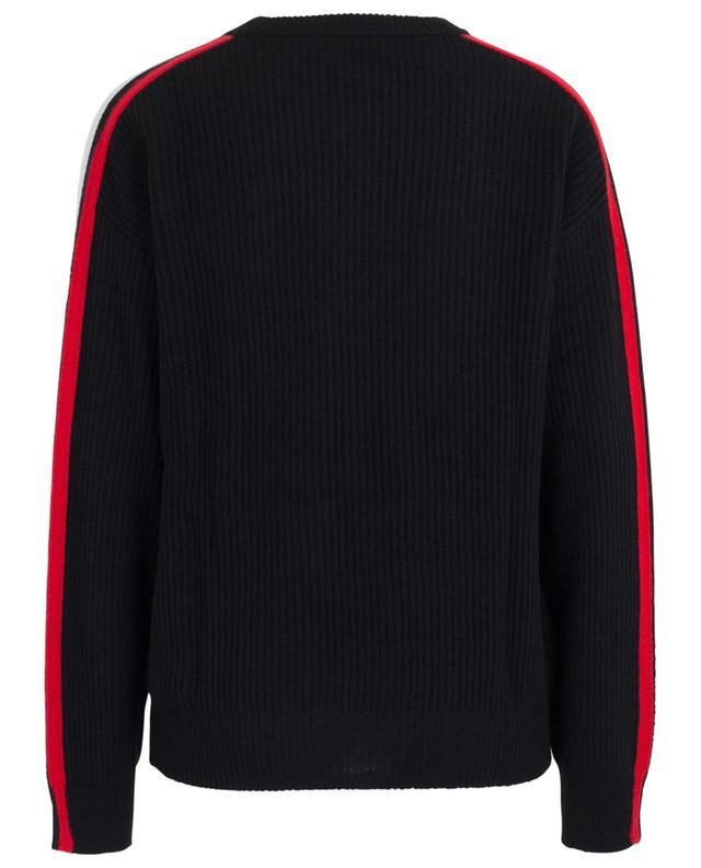 Textured stripe wool round neck jumper BONGENIE GRIEDER